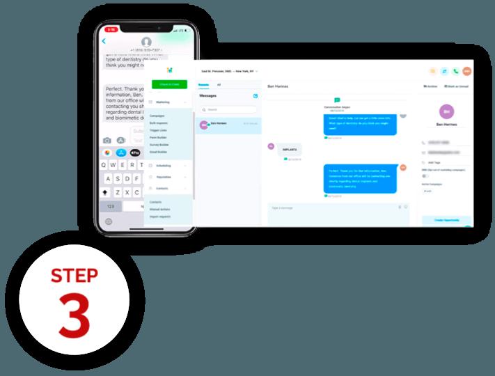 Communicate via SMS